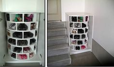 10 Absolutely Incredible DIYs for Your Shoe Closet: 7. Easy Fitting Shelves - Diy & Crafts Ideas Magazine
