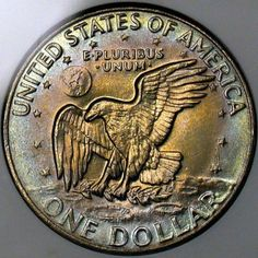 Value of Eisenhower Dollar. Learn the history and numismatic values for the large Eisenhower Dollar coin. Silver Coins Worth, Old Coins Worth Money, Valuable Coins, American Coins, Kennedy Half Dollar, Coin Worth, Coin Grading, Man On The Moon, Dollar Coin