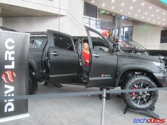 tundra fender flares | Toyota Tundra pickup, lifted, with crude fender flares, carbon-fiber ...