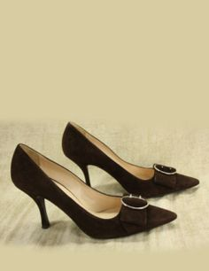 Prada Closed Toe pointed toe Suede Pumps bow buckle