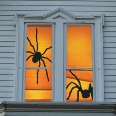 Shady Spiders Halloween Window Panels - Halloween Decorations and Decor - Grandin Road - http://www.halloween.quick-reviews.com/6059/shady-spiders-halloween-window-panels-halloween-decorations-and-decor-grandin-road.html