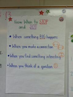 Stop and Jot... annotation for close reading