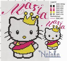Cross Stitch Charts, Cross Stitch Embroidery, Cross Stitch Patterns, Hello Kitty, English Alphabet Letters, Friendship Bracelet Patterns, Friendship Bracelets, Mickey And Friends, Baby Blanket Crochet