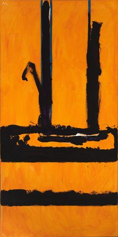 Large Yellow Abstract Painting by Robert Motherwell. Robert Motherwell, Mark Rothko, Franz Kline, Willem De Kooning, Jackson Pollock, Famous Abstract Artists, Abstract Paintings, Modern Art, Contemporary Art