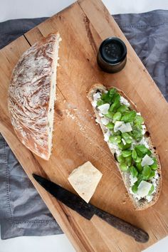 Fava Beans and Mint Tartine