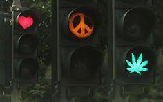 A Traffic Light In Aachen, Germany