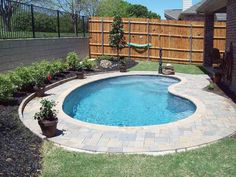 Mini pool Small pool Solstice Fiberglass Pool Household Appliances That Can Save You Money Art Small Inground Pool, Small Swimming Pools, Swimming Pools Backyard, Swimming Pool Designs, Pool Spa, Pool Landscaping, Lap Pools, Indoor Pools, Pool Decks