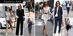 Stylizacje do biura #businesslook Victoria Beckham Miranda Kerr