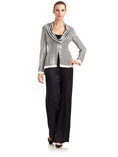 Giorgio Armani - Silk Sequined Stripe Jacket - Saks.com