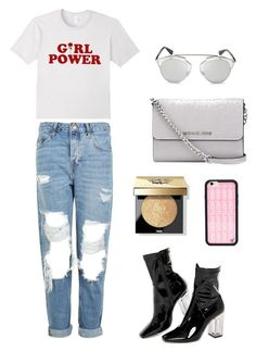 """Girl power"" by vanexxaa on Polyvore featuring Public Desire, Topshop, Wildflower, MICHAEL Michael Kors, Christian Dior and Bobbi Brown Cosmetics"