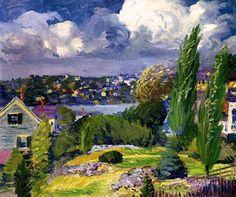 Breezy Day, Gloucester, Massachusetts, 1915, John Sloan (American, 1871-1951)