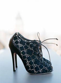 Black pussy heels
