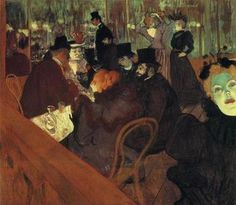At the Moulin Rouge (1892-93) by Henri de Toulouse-Lautrec.