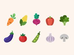 Small personal project. Enjoy the cute little vegetable icons!