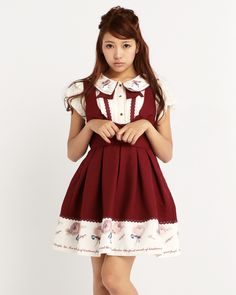 LIZ LISA Back Ribbon Pinafore Dress | http://bonbonbunny.com/archives/4135/pick-from-these-great-starting-pieces-from-liz-lisa-to-begin-your-jfashion-wardrobe