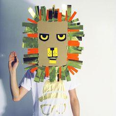 mascara de leon para carnavales