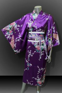 Bridesmaid Silk Robes Royal Purple Painting Peacock by thaichill, $35.59