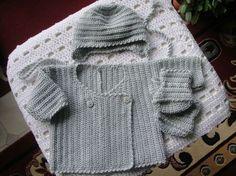 Gilet brassière bébé 3 mois au crochet - Tricot, crochet, doudous de Memie Cathy => tuto : http://p0.storage.canalblog.com/08/41/345300/95531766.pdf