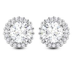 Make a difference in you with this lovely design. This earring is studded with solitaire in four prong setting and beautiful diamonds are studded around it. Its classic style is a never ending fashion with an eternal style. Solitaire Earrings, Stud Earrings, 1 Carat, Designer Earrings, Classic Style, Engagement Rings, Jewels, Jewellery, Diamond
