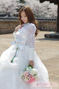 Korean Wedding Fusion Hanbok -- So pretty!