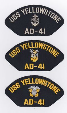 USS YELLOWSTONE AD-41-3 These original hat patch is for sale for $2.00 ea including s & h.  Contact ussforrestalcva59@gmail.com