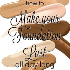 The main reason that people can't get their foundation to last is because they are using poor quality prod. Beauty Tips, Beauty Hacks, Foundation, Make Up, Blog, Beauty Tricks, Makeup, Blogging, Foundation Series