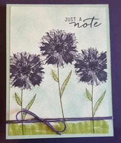 Purple Floral Scene Textured Note by zipperc98 - Cards and Paper Crafts at Splitcoaststampers