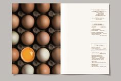 Paul Belford, one of the world's most awarded art directors, designed this campaign to encourage people  to buy free range eggs. The  ads are designed to appeal to  people who are interested in  food rather than people who are  interested in charity ads.