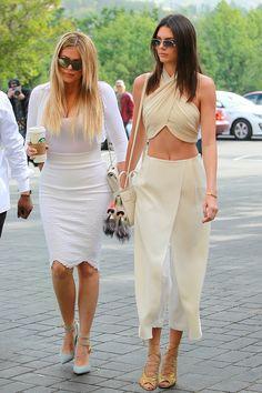 Kendall Jenner en hechizante blanco