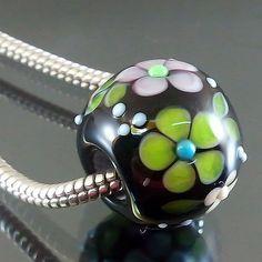 Pikalda handmade lampwork 1 glass charm bead big by veradacraft, $20.00