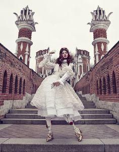 The Anastasia of Winter: Lindsey Wixson shot by Emma Summerton for Vogue Japan, December 2013