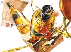 Art Assignments, Composition Design, Color Pencil Art, Bottle Art, Colored Pencils, Art Sketches, Still Life, Drawings, Pencil Drawings