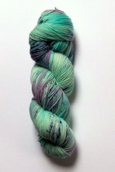 There's only one skein of Mermaid Hair sock yarn by Squirrel Stash Yarn at www.stitchcottonandwool.com