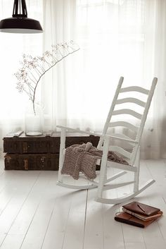 swing chair home town walmart armless covers 40 best rocking chairs images white at my scandinavian a touch of autumn in stunning dutch