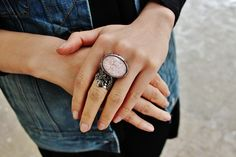 STYLE ADVICE OF THE WEEK: Shed Your Sleeves | College Fashionista  YSL Arty Ring, Rag & Bone Denim Vest.