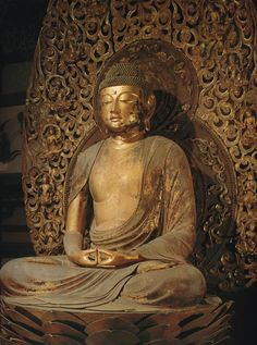 阿弥陀如来坐像-amidanyoraizazou- (Amitābha) One of Buddha. The work of an engraver 定朝.平等院鳳凰堂(byoudouinhououdou)