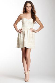 Olcay Gulsen Silk Strapless Dress
