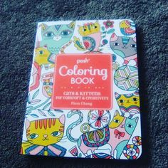 This colouring book arrived today in the mail. #cats #kittens #poshcoloringbook #florachang  #creativity #comfort