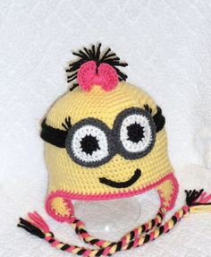 Girl Yellow Minion with Goggles  MADE TO ORDER by BabySewCute, $25.00