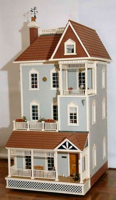 Dolls houses and miniatures Private Sales Dollhouse Kits, Victorian Dollhouse, Dollhouse Dolls, Dollhouse Miniatures, Miniature Houses, Miniature Dolls, Mini Doll House, Diy Doll, Small World