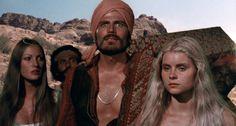 "Patrick Wayne, Jane Seymour in ""Sinbad and the Eye of Tiger"" film. Fantasy Fiction, Fantasy Movies, Sci Fi Fantasy, Kid Movies, Sci Fi Movies, Fiction Movies, Science Fiction, Sinbad The Sailor, Patrick Wayne"