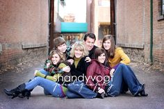 cute large family shot