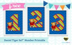 Free daniel tiger birthday party printables