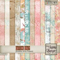 Caffeine Crazy Shabby Papers by Designs by Laura Burger