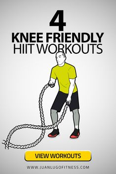 4 Knee Friendly HIIT Workouts Working out with knee pain or knee issues can be tricky but it can definitely still be done. Especially with the help of training equipment like medballs, battle ropes an Hiit Workouts For Men, Hiit Workout At Home, Workout For Beginners, Training Workouts, Workout Routines, Cardio, Core Workouts, Marathon Training, Tabata