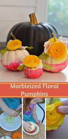 Marbleized Floral Pu