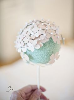 DIY Hydrangea Centerpiece Made From Paint Chips | Fab You Bliss