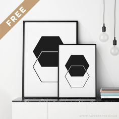 Free 'hexagons' printable wall art