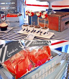 vintage nautical baby shower by Honeycomb Events + Design