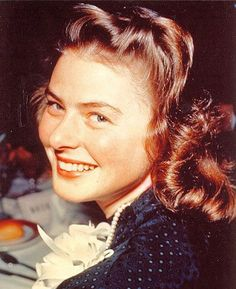 Ingrid Bergman, so young, so radiant, and clearly a new arrival in Hollywood. Circa 1939/  lmr